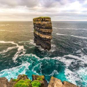 Ballina Bike Hire Downpatrick Head, a Wild Atlantic Way discovery point on the north Mayo coast line